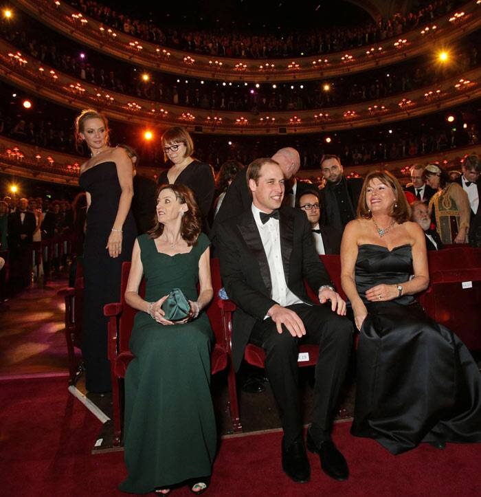 Duke of Cambridge, Prince William, who is the president of the British Academy of Film and Television Arts, was guest of honour at the 67th awards ceremony held at London's Royal Opera House. (AP)