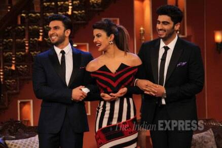 Priyanka Chopra dolls up while boys Ranveer-Arjun suit up