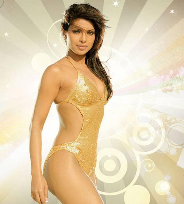 Priyanka Chopra shimmered in a golden one-piece in Karan Johar's Dostana and this was enough to woo the two men in question - Abhishek Bachchan and John Abraham.