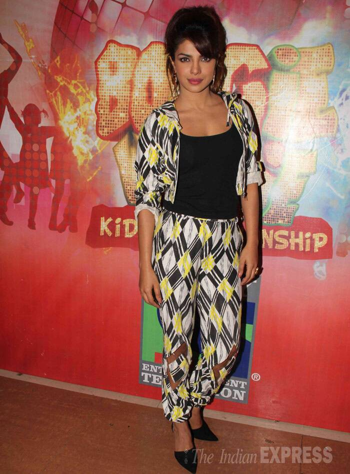 Priyanka Chopra was trendy in a Surendri outfit by Yogesh Chaudhary paired with black Zara pumps. (Photo: Varinder Chawla)