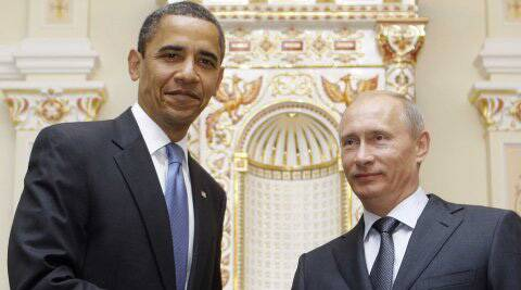 Obama calls Putin over phone to discuss the peace treaty for Ukraine.