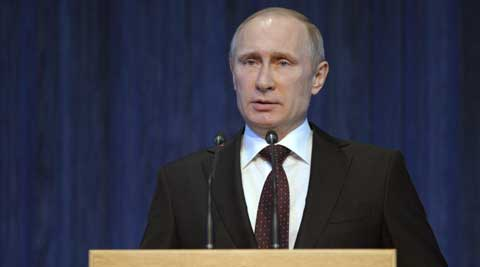 President Putin ordered immediate test of combat readiness of troops in central and western Russia. (AP Photo)