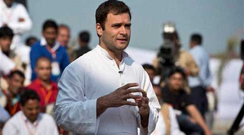 Rahul Gandhi said the Centre is working towards giving certain minimum rights and security to people of the region all over India. (PTI)