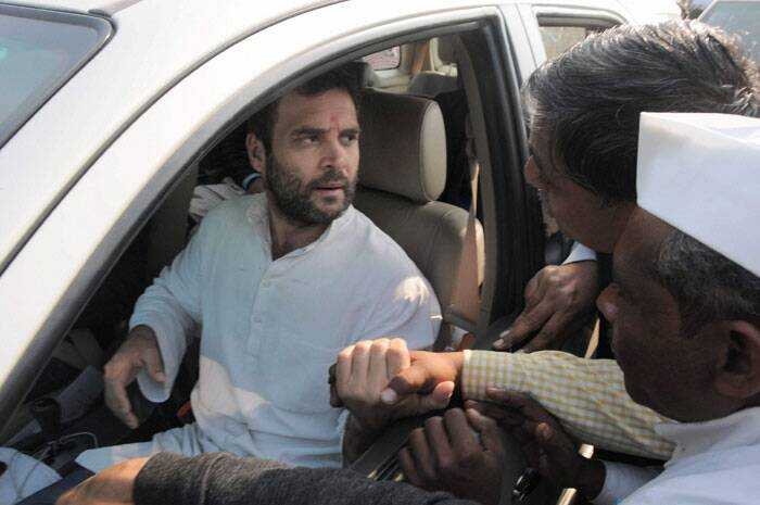 Congress Vice President Rahul Gandhi during a visit to Amethi. (PTI)