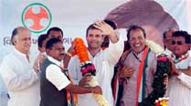 Rahul said that development in Gujarat was due to the hardwork of the people and not because of one single person. (PTI)
