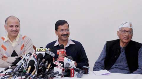 Grandson of Mahatma Gandhi, Rajmohan Gandhi had joined AAP last week. (IE Photo)
