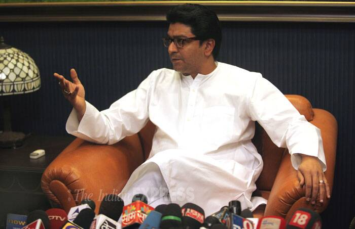 MNS Chief Raj Thackeray was detained  on Wednesday (February 12) at Sion bridge for staging a 'rasta roko' to protest against toll collection in the state. He was arrested for participating in the 'rasta roko' despite a notice served by the Mumbai police on Tuesday asking  him to refrain from participating.<br />  MNS chief Raj Thackeray had on Tuesday said his party would go ahead with the state-wide street blockade. (IE Photo: Prashant Nadkar)