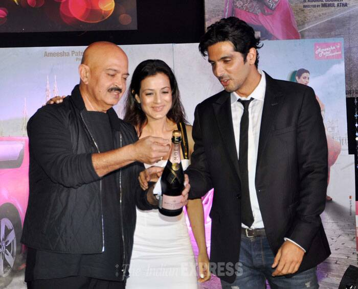 'Krrish 3' director Rakesh Roshan who launched Ameesha in her debut film, 'Kaho Na Pyaar hai' was invited to do the honours. (Photo: Varinder Chawla)