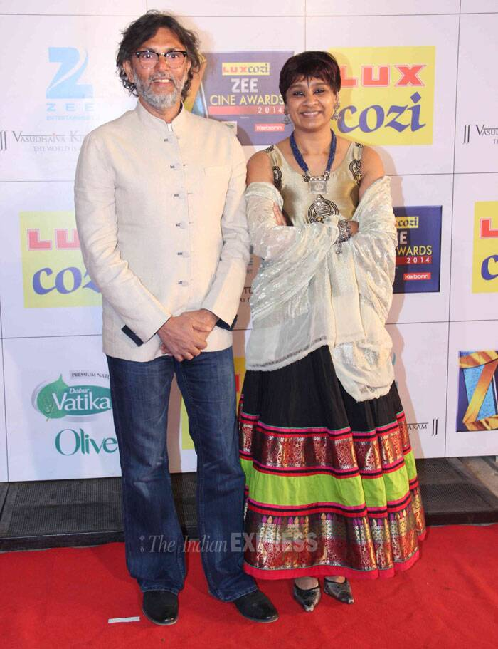 'Bhaag Milkha Bhaag' director Rakeysh Omprakash Mehra came in with his wife P S Bharathi. (Photo: Varinder Chawla)