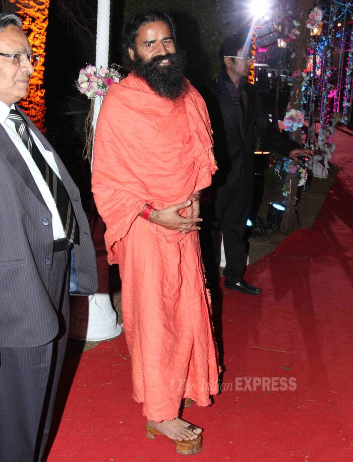 Spiritual leader Baba Ramdev also attended the wedding celebrations. (Photo: Varinder Chawla)