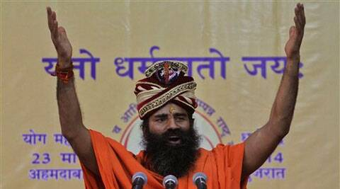 Ramdev said he will launch a nationwide door-to-door campaign in support of Narendra Modi from March 1. (AP)