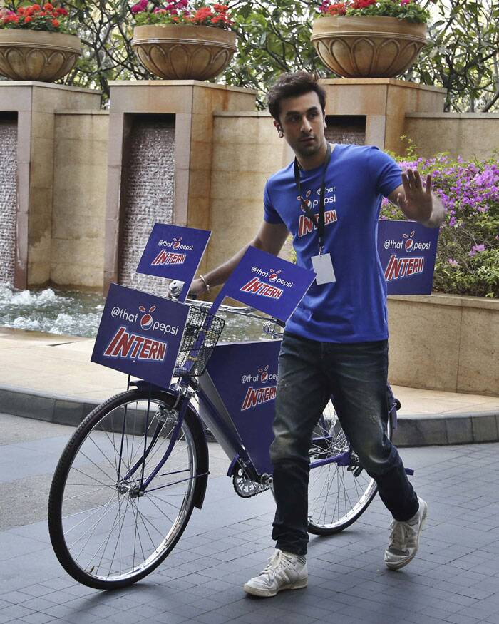 Ranbir is ready to ride. (AP)