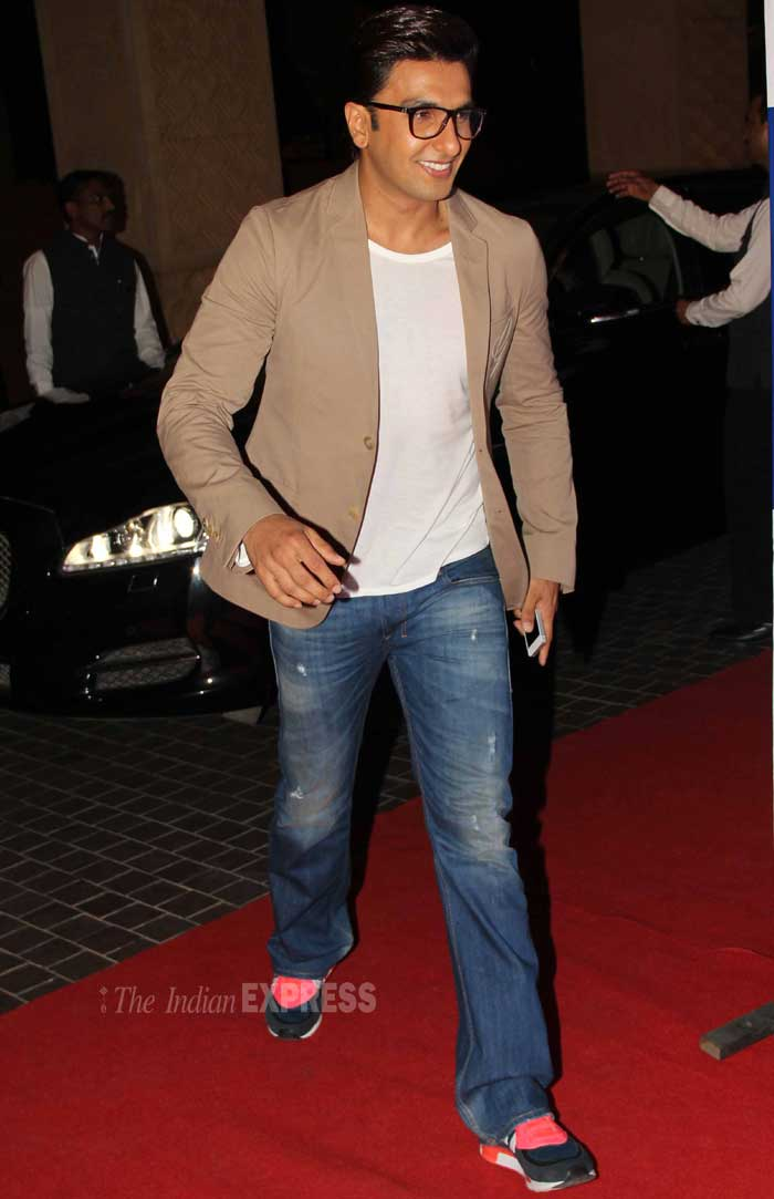 Bollywood heartthrob Ranveer Singh makes a swift entry. (Photo: Varinder Chawla)