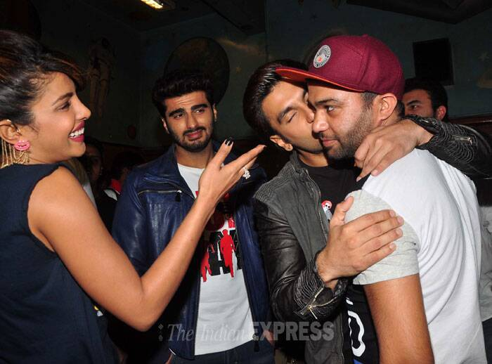 Ranveer is once again up to his antics, much to Priyanka's amusement. (Photo: Varinder Chawla)
