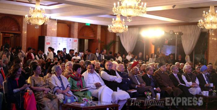 Guests at Isher Judge Ahluwalia's book release in New Delhi on Monday. (IE Photo: Ravi Kanojia)