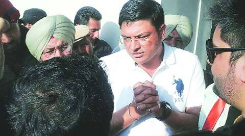 Jaswinder Singh Rocky outside the court in Chandigarh on Wednesday.