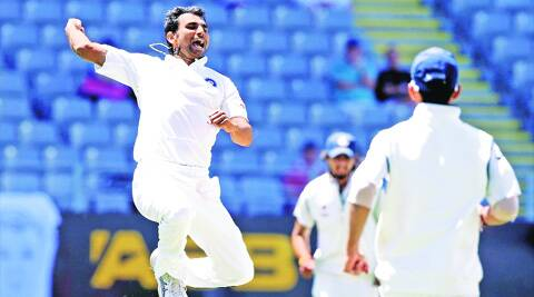Idea AnnaMohammad Shami (top) took three wickets in the second innings, as did Ishant Sharma. The latter finished with a match haul of nine wickets. (Photo: Reuters)