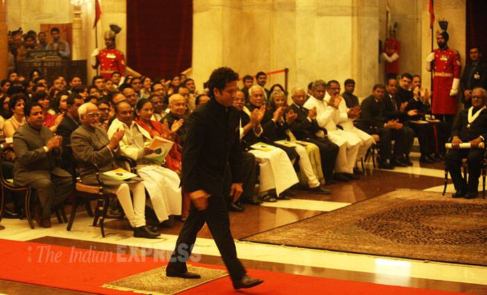 An official statement had said Tendulkar has been a true Ambassador of India in the world of sports and his achievements in cricket are unparallelled, the records set by him unmatched, and the spirit of sportsmanship displayed by him exemplary. (IE Photo: Neeraj Priyadarshi)