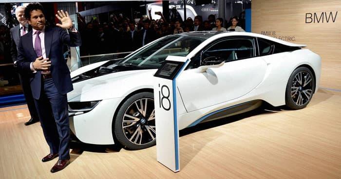 Sachin Tendulkar unveils luxury car BMW i8