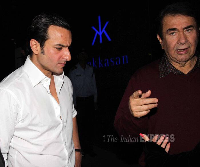 Randhir Kapoor clicked with son in law Saif Ali Khan. (Photo: Varinder Chawla)