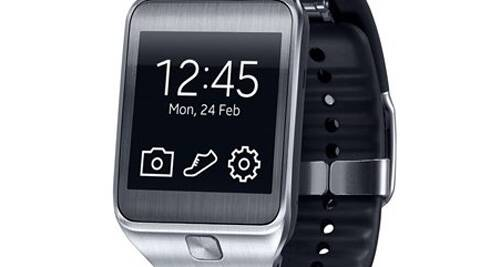 The new Gear 2 which was unveiled at the Mobile World Congress in Spain.