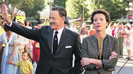 The genial versus the grouch: Tom Hanks with Emma Thompson