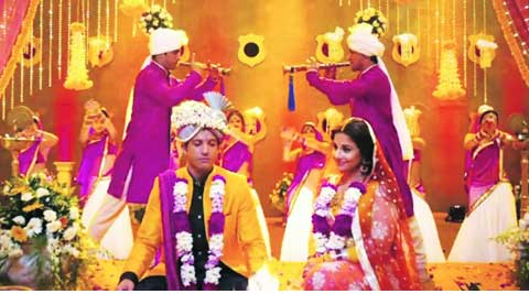 In wedded bliss:   Farhan  Akhtar and Vidya Balan