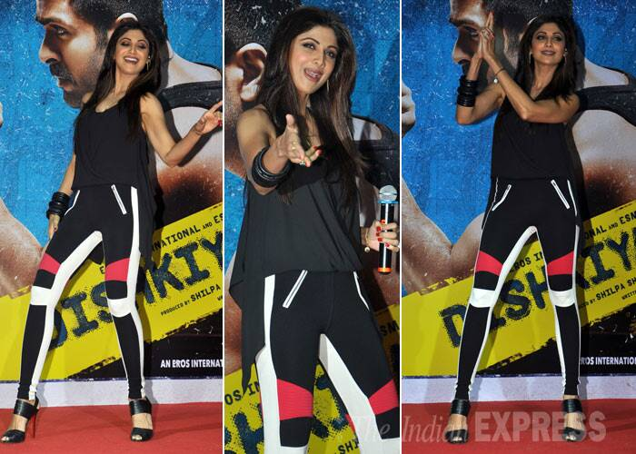 Yummy mummy Shilpa Shetty was sexy in BCBG separates.  (Photo: Varinder Chawla)