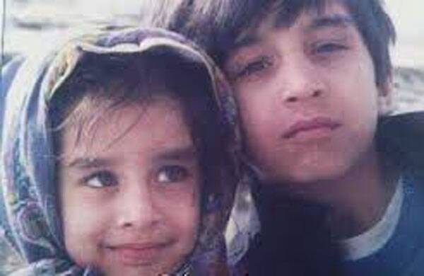 Shraddha Kapoor with her brother Siddhant Kapoor when they were toddlers.