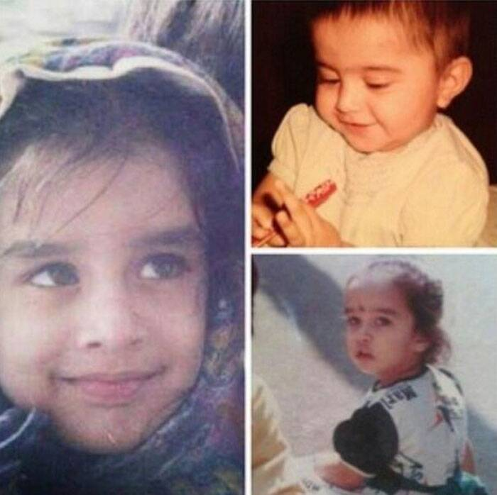 Any guess who this light-eyed chubby girl is? She is none other than the 'Aashiqui 2' actress Shraddha Kapoor. Shraddha, who has just wrapped up shooting for 'Haider' and is working on 'The Villain', was a pretty baby with adorable features.