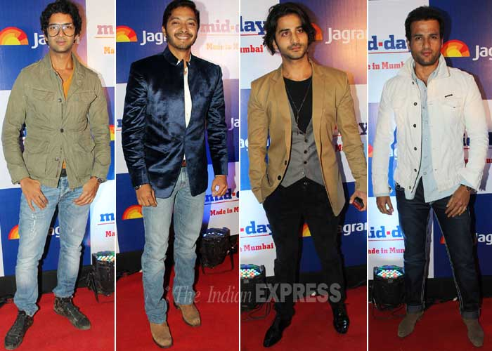 Young Bollywood – Purab Kohli, Shreyas Talpade, Puneet Singh Ratn and Rohit Roy. (Photo: Varinder Chawla)