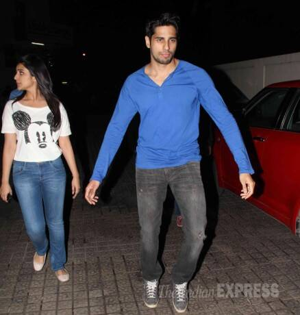 Parineeti, Sidharth watch Hasee Toh Phasee with Karan Johar, director
