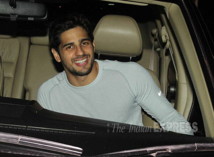 Her co-star Sidharth Malhotra was also snapped beaming as he arrived in his car. (Photo: Varinder Chawla)