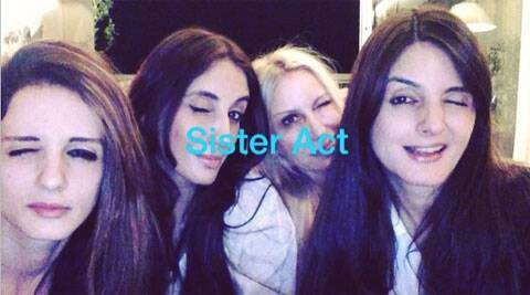 Sussanne was spotted partying with her sisters and friends.