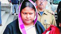JMM MLA Sita Soren at a Ranchi court on Tuesday.