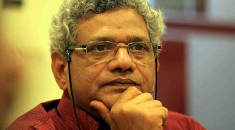 Sitaram Yechury said their aim was to formulate policies which would bring relief on the economic front. (Express Archive)