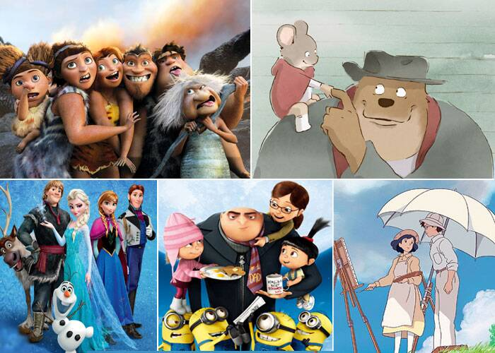 ANIMATED FEATURE FILM<br /><br /><b>The Croods</b><br /><b>Despicable Me 2</b><br /><b>Ernest & Celestine</b><br /><b>Frozen</b><br /><b>The Wind Rises</b>