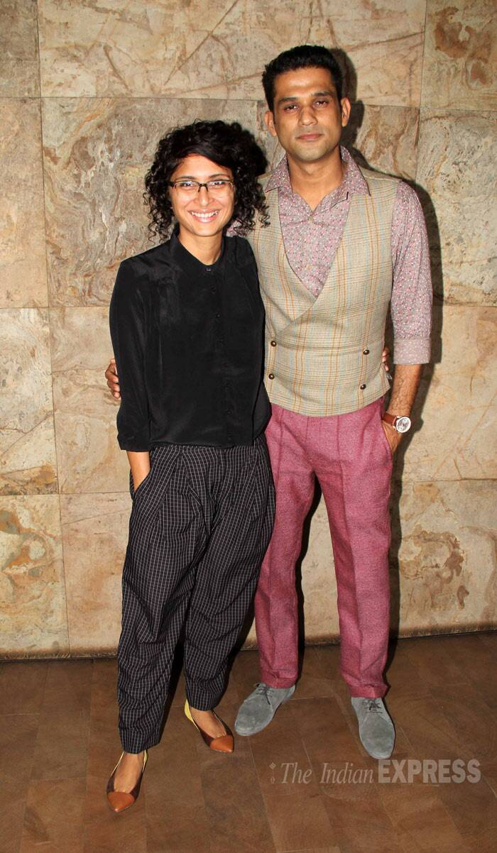 Meanwhile, Aamir Khan's wife and director Kiran Rao held a special screening of documentary film, 'Gulabi Gang'. Seen here with Sohum Shah. (Photo: Varinder Chawla)