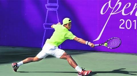 Somdev Devvarman is the only Indian left in the draw after a 6-2 7-5 win over Karunuday Singh (IE Photo Tashi Tobgyal)