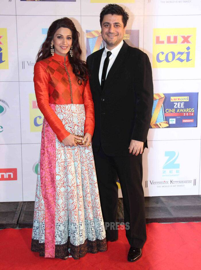 Sonali Bendre attended the awards with her husband and producer Goldie Behl. Sonali looked pretty in a Manish Malhotra floor length anarkali. (Photo: Varinder Chawla)