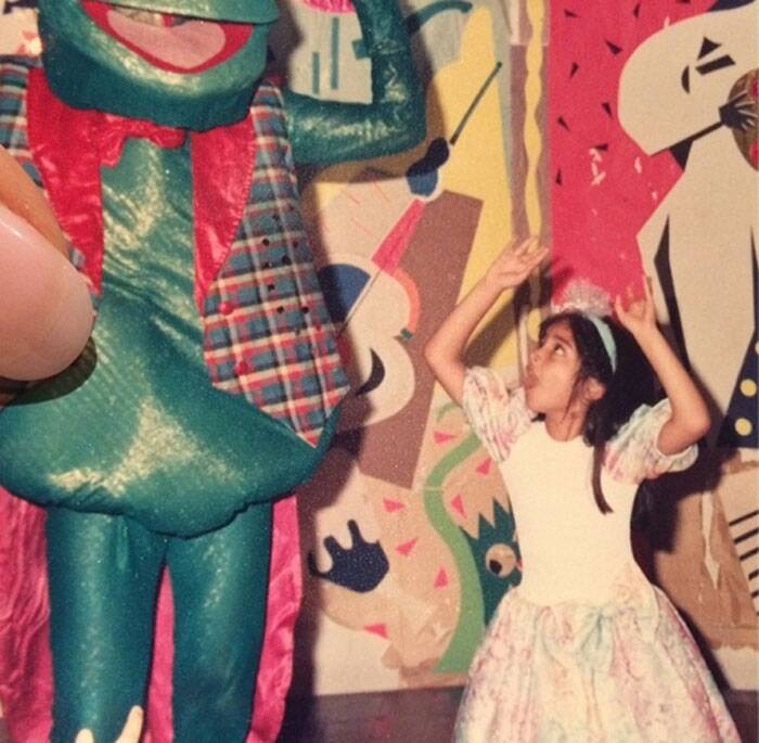 Sonam hints at being somewhat of a 'drama queen' as she shared a childhood picture of herself faking surprise with the caption, 'Always overreacting'.