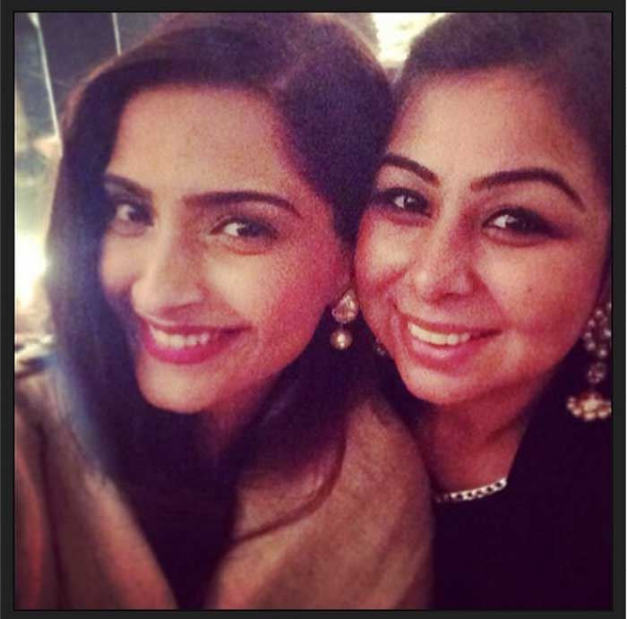 Cousins Sonam and Arjun Kapoor at friend's wedding