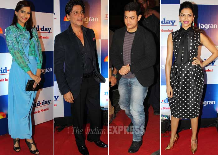 Bollywood big names including Aamir Khan, Shah Rukh Khan, Amitabh Bachchan, Deepika Padukone, Ranveer Singh, among others had a gala night on Wednesday (February 26) at the re-launch party of a leading English daily. Take a look! (Photo: Varinder Chawla)