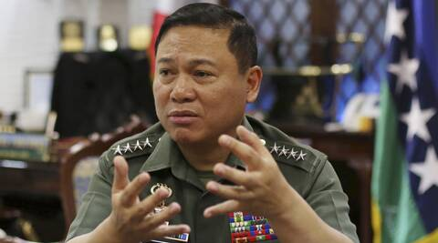 "Philippine Military Chief Emmanuel  Bautista says Beijing's territorial claims in the South China Sea are ""nonsense"" and vowed to defend fishermen if they face intimidation by Chinese naval forces in the waters. (AP)"