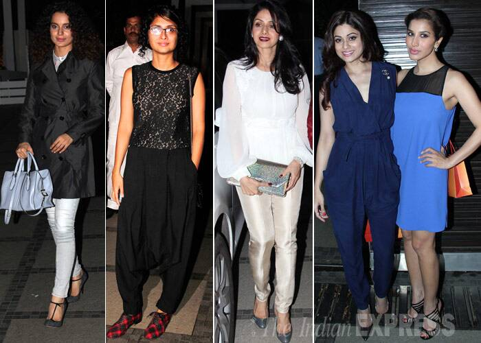 The who's who of Bollywood including beauties Kangana Ranaut, Kiran Rao, Sridevi were in party mode at the birthday bash of Sussanne Roshan's sister Simone Khan. But two people who were missing from the scene were definitely the estranged couple Hrithik and Sussanne Roshan. Take a look at who else made it to the most happening party in Mumbai on on Wednesday (February 12). (Photo: Varinder Chawla)