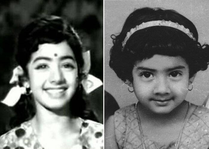Sridevi, who made her comeback on the silver screen after a gap of almost sixteen years with English Vinglish, tweeted a picture of hers when she worked as a child actor. The actress looks cute ans here's presenting a few pics of our superstars from their bachpan. (This image was posted on Twitter by Sridevi Boney Kapoor)