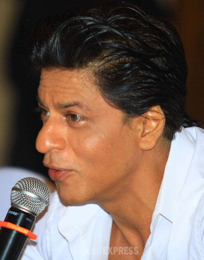 "Shah Rukh Khan, owner of KKR and Bollywood superstar,said, ""Kolkata Knight Riders is not just a cricket team of IPL for us. It has been a family since the inception. Each and everyone involved with KKR since the beginning has had a journey worth a mention. I am thrilled to share this journey of tears, sorrow, strength and victory with everyone. On behalf of Juhi, Jay and myself, I would like to thank the different players from all seasons of IPL, the coaches, physicians, the management and everyone else who has been a part of this wonderful team for doing what they have done over the years. I also thank the very loyal fans who have supported us and loved us no matter what. And special thanks to Discovery for getting our story across to the people around the world."" (IE Photo: Amit Chakravarty)"