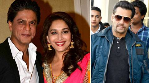 I really had a great time working with Shah Rukh Khan, says Madhuri Dixit.