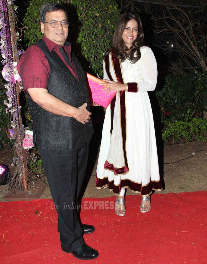 Filmmaker Subhash Ghai also arrived to wish the couple. (Photo: Varinder Chawla)