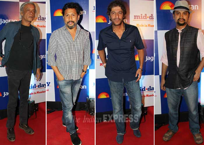 Stylish men on the block – Sudhir Mishra, Shoojit Sicar, Chuny Pandey and Soumik Sen. (Photo: Varinder Chawla)